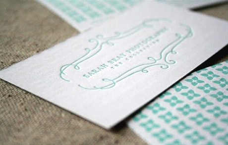 letterpress,one color,stylish business card