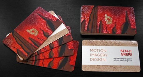 fancy,silk laminated business card