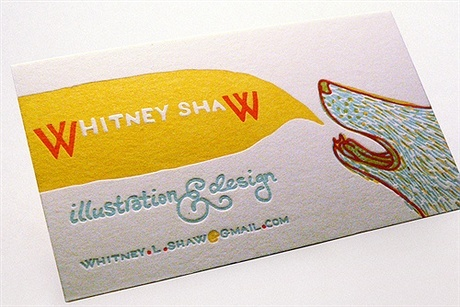 illustration,fancy,letterpress,multi color business card