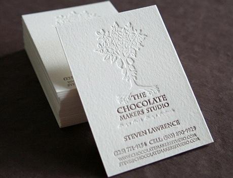 cotton paper,letterpress business card
