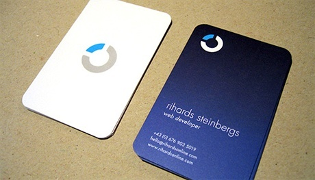 contrast color,round corner business card