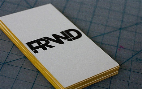 letterpress,thick paper business card