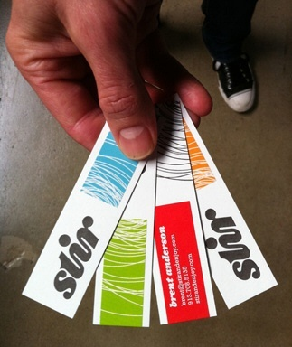 strips,letterpress,multi color business card