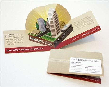 creative,folding,multi color business card