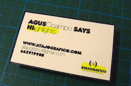 recycled paper,stylish business card
