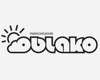 bold,sun,outline logo