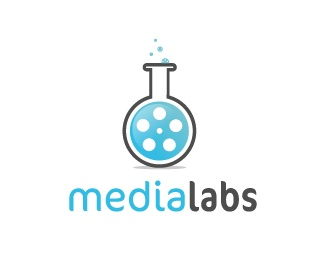 creative,lab,media,round,entertainment,flask logo