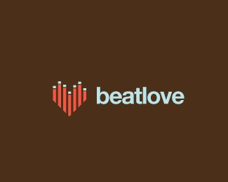 heart,music,spectrum,strips,beat logo