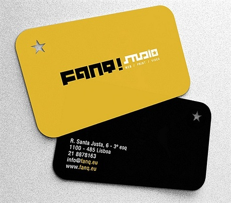 round corner business card