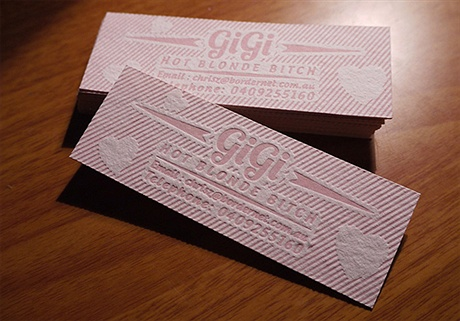 letterpress,stylish business card