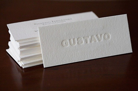 Gustavo - Embossed Letterpress Card business card