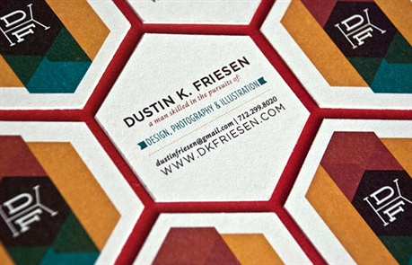 Hexagonal Business Cards business card