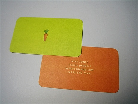 green,red,simple,round corner business card