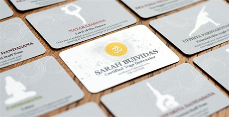 fancy,round corner,stylish business card