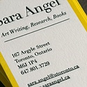 Yellow Letterpress