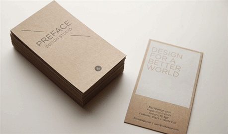 Eco Paper Business Card business card