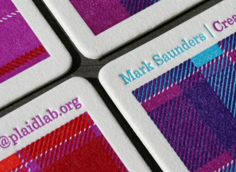 Plaid Pattern business card