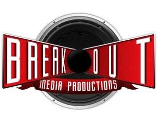 3d,media,speaker,production logo