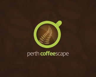 brown,coffee,cup,green logo