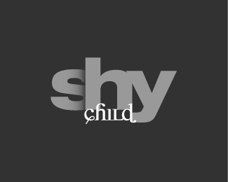 concept,shy child logo