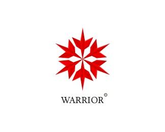 red warrior,spear logo