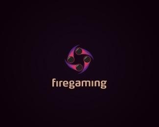 gaming,light,orange,purple,firegaming logo