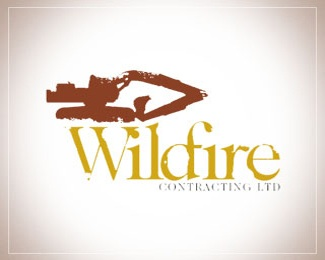 fire,brand,wild,contractor,contracting logo