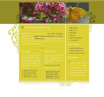 butterfly,flower,nature,santa website template