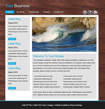 blog,business,nature,personal,portfolio website template