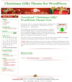 Christmas Gifts Theme - Free Wordpress Theme